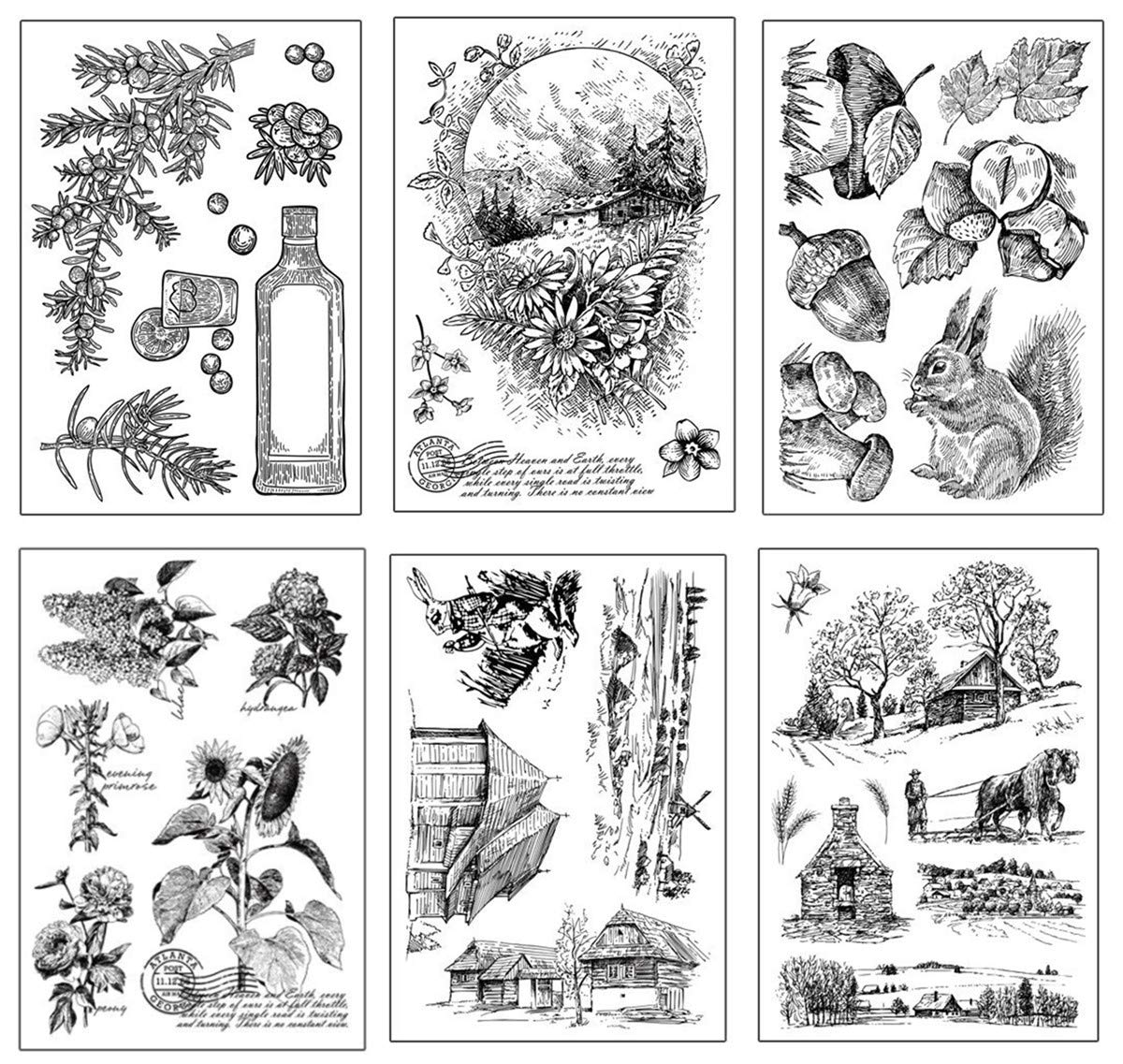 Layhome Vintage Clear Stamp Stamping Scrapbooking Notebook Album Cards Decor (Character Scrapbooking) by Layhome (Image #5)