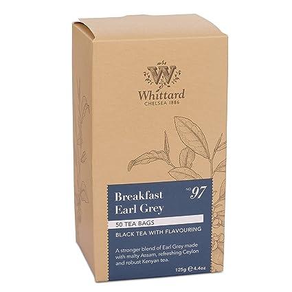 whittards Desayuno Earl Grey 50 bolsas de té: Amazon.com ...