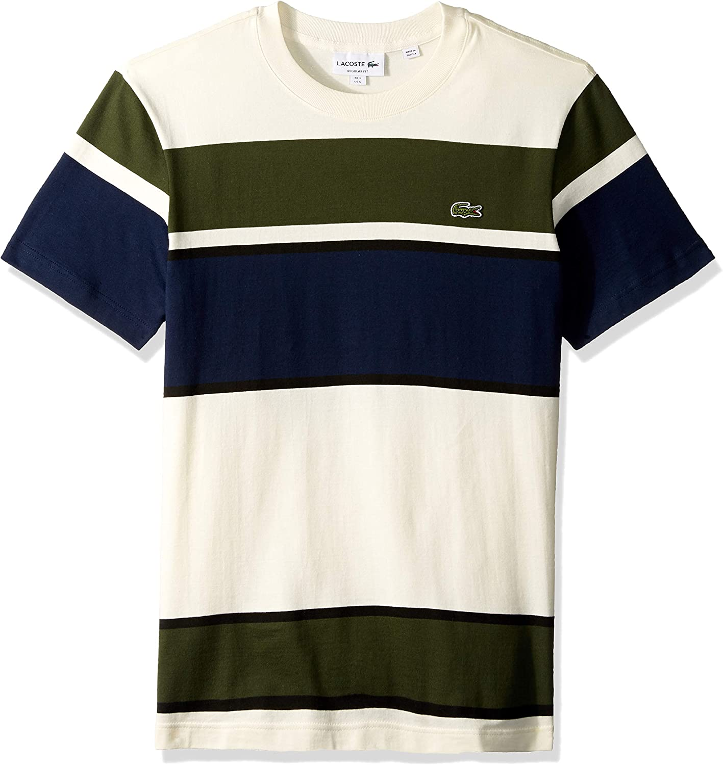 Lacoste Mens Short Sleeve Colorblock Jersey T-Shirt