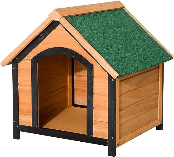 Pawhut Caseta de Madera Maciza para Perro Casa de Perro Impermeable con Patas Elevadas para Interior y Exterior 72x76x76cm: Amazon.es: Productos para mascotas
