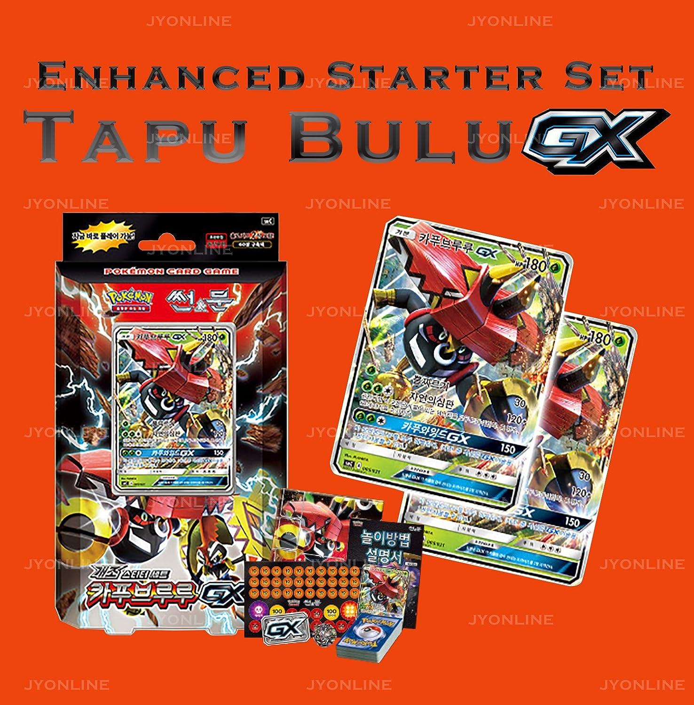 Pokemon Cartas Sun & Moon Tapu Bulu-GX Enhanced Starter Set Corea Ver TCG + 3pcs Premium Card Sleeve: Amazon.es: Juguetes y juegos