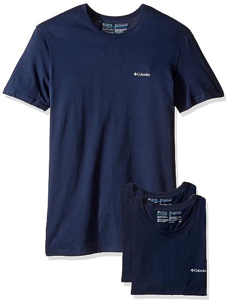 039f6c47bae76 Columbia Paquete de 3 Playeras de algodón con Cuello Redondo para Hombre   Amazon.com.mx  Ropa