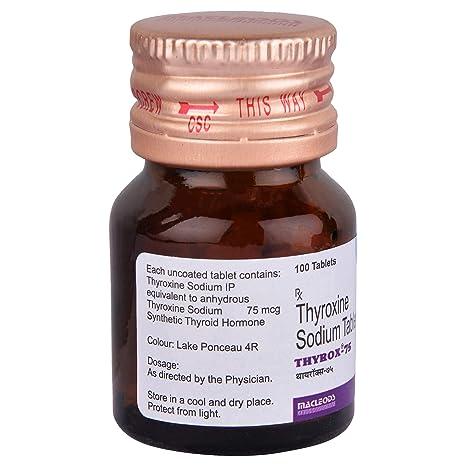 Thyrox 75 Bottle Of 100 Tablets Amazon In