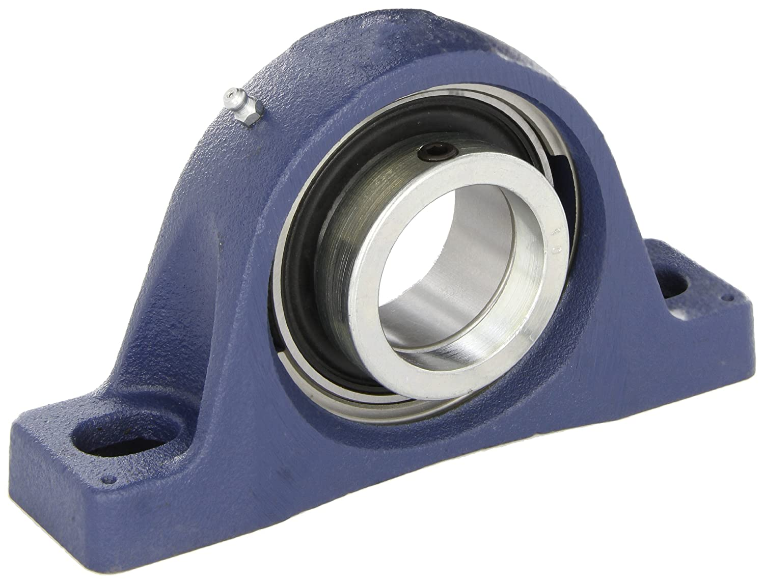 SKF SY 30 FM Pillow Block Ball Bearing Eccentric Collar 2 Bolts Non-Expansion Type Contact Seals 117.500mm Bolt Hole Spacing Width 42.900mm Base To Center Height Metric 30mm Shaft Cast Iron