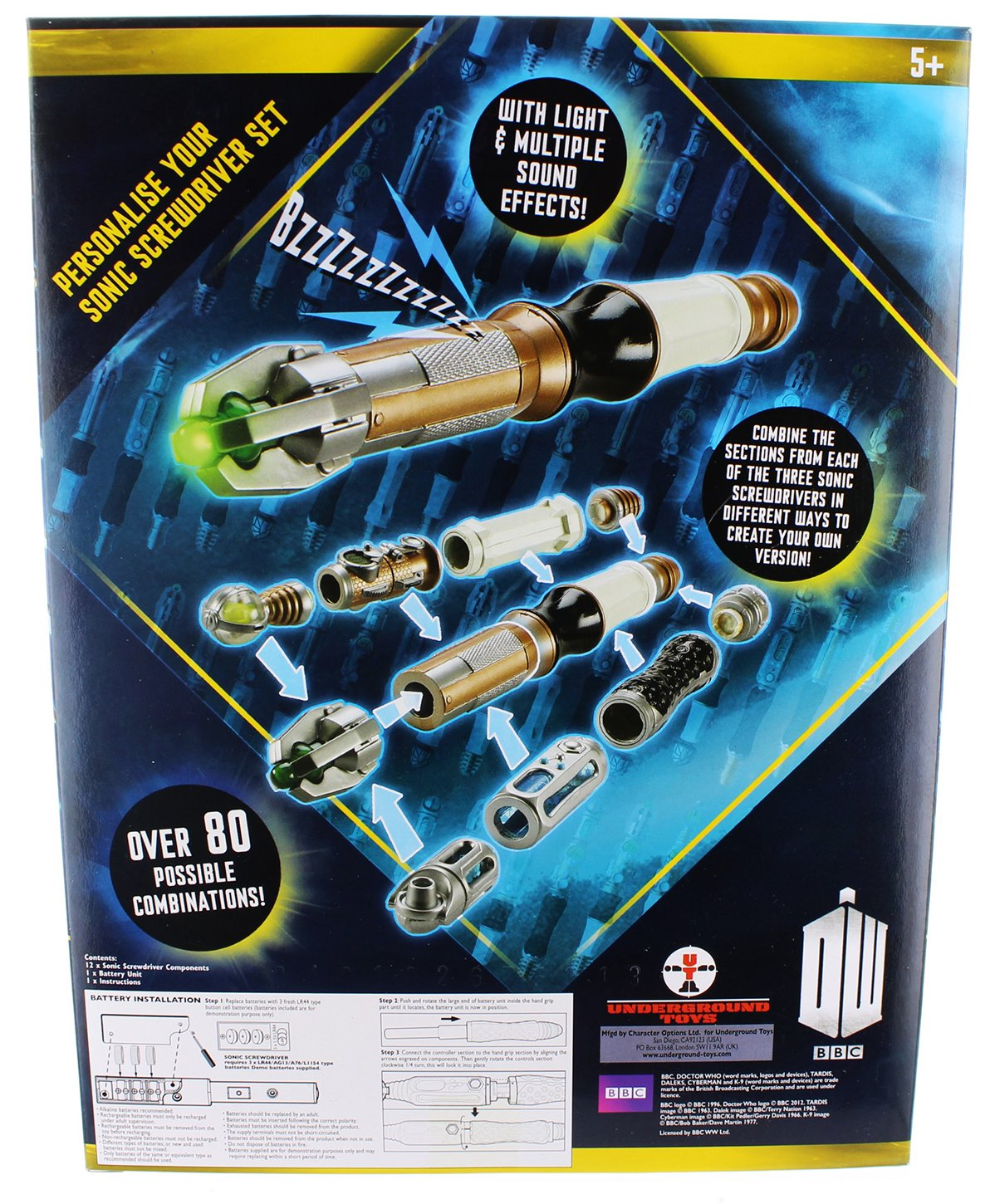 Doctor Who Personalise Your Sonic Screwdriver - Set para crear tu ...