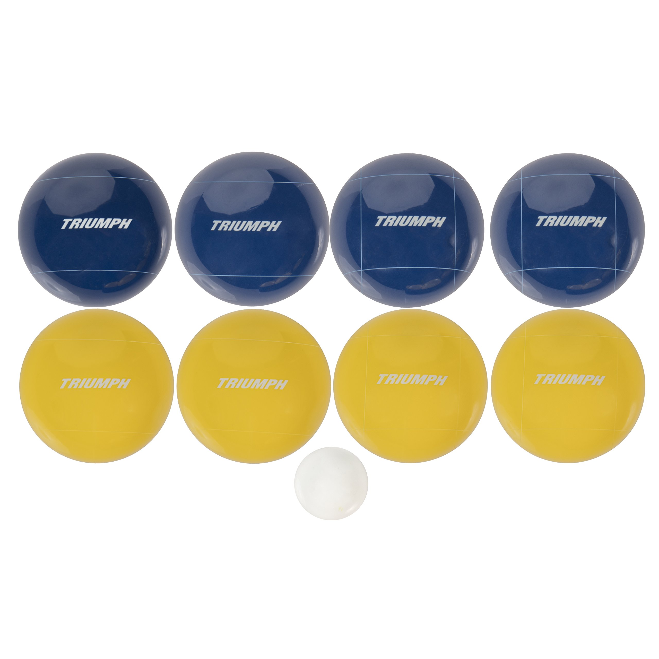 Triumph All Pro 100mm Bocce Set Includes Eight Bocce Balls, One 50mm Jack, and Carry Bag by Triumph Sports (Image #2)
