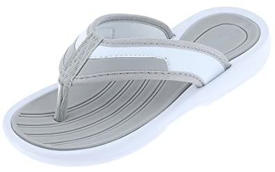 e8caf8232102 Capelli New York Ladies Flip Flops with Grosgrain Binding and Toe Post Grey  6
