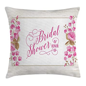 Amazon.com: Usicapwear Bridal Shower Decorations Throw Pillow ...