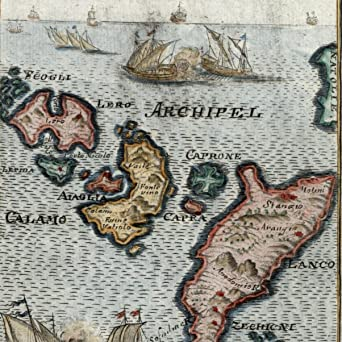 Amazon greece greek islands calamo lanco lero kalymnos 1719 old greece greek islands calamo lanco lero kalymnos 1719 old mallet map hand color gumiabroncs Images