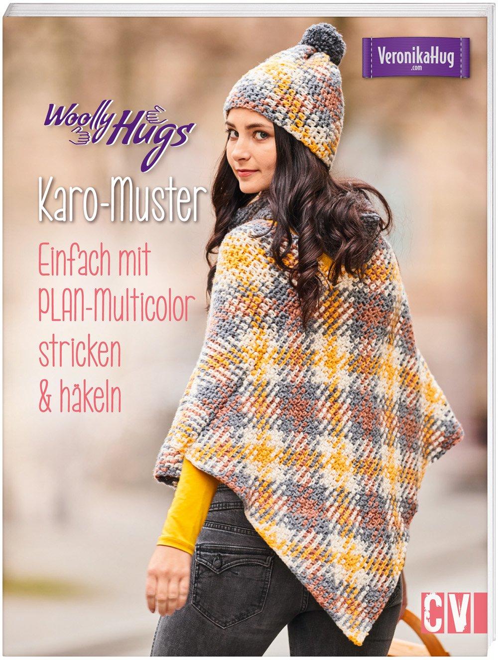 Amazonfr Woolly Hugs Karo Muster Einfach Mit Plan Multicolor