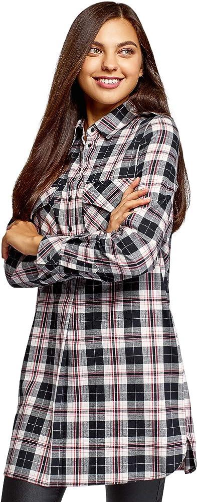 oodji Ultra Mujer Vestido Camisa con Bolsillos, Negro, ES 34 / XXS: Amazon.es: Ropa y accesorios