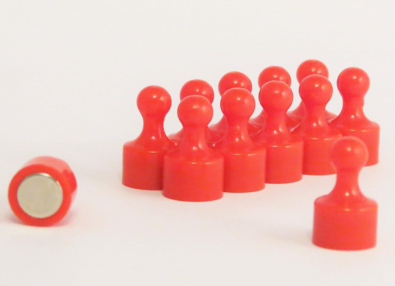 /scribble super Strong 12/mm di diametro x 20/mm Skittle magneti per ufficio e frigorifero giallo Confezione di dodici/