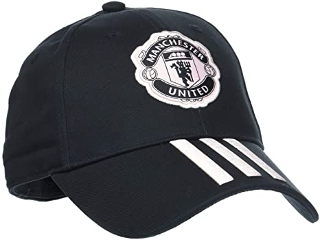 4d497a319e Amazon.com: adidas Manchester United Hat 3 Stripes Football CY5585 ...