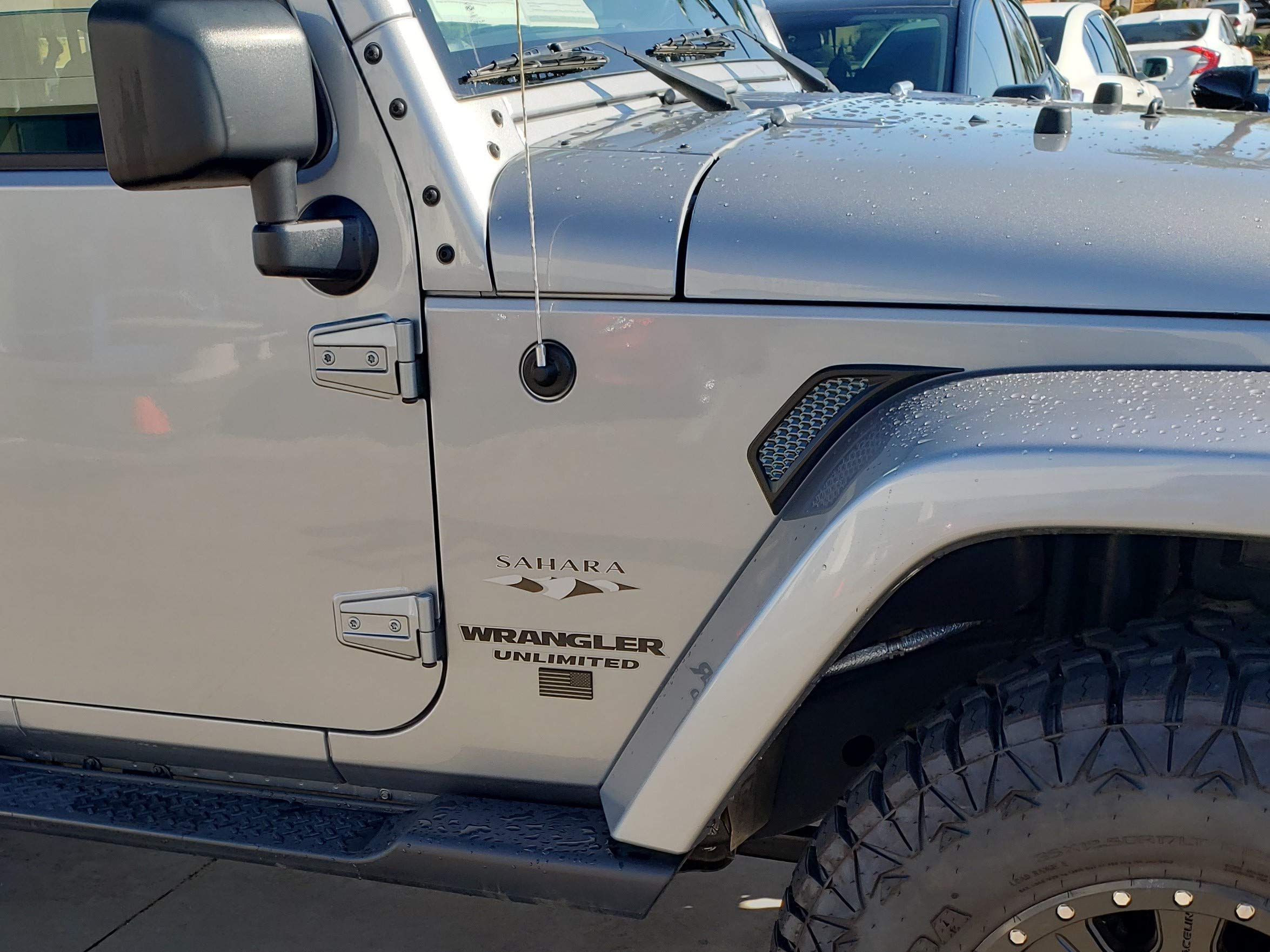 EyeCatcher Vent and USA Flag Compatible with 2006-2018 Jeep JK Wrangler