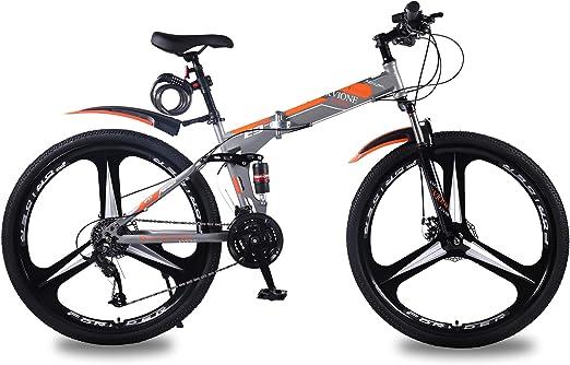 KVIONE E9 Bicicleta de montaña de 27 velocidades Unisex 29 ...