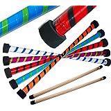 TWIST Devil Stick Set with Wooden Control Hand Sticks! (Blue/Green)
