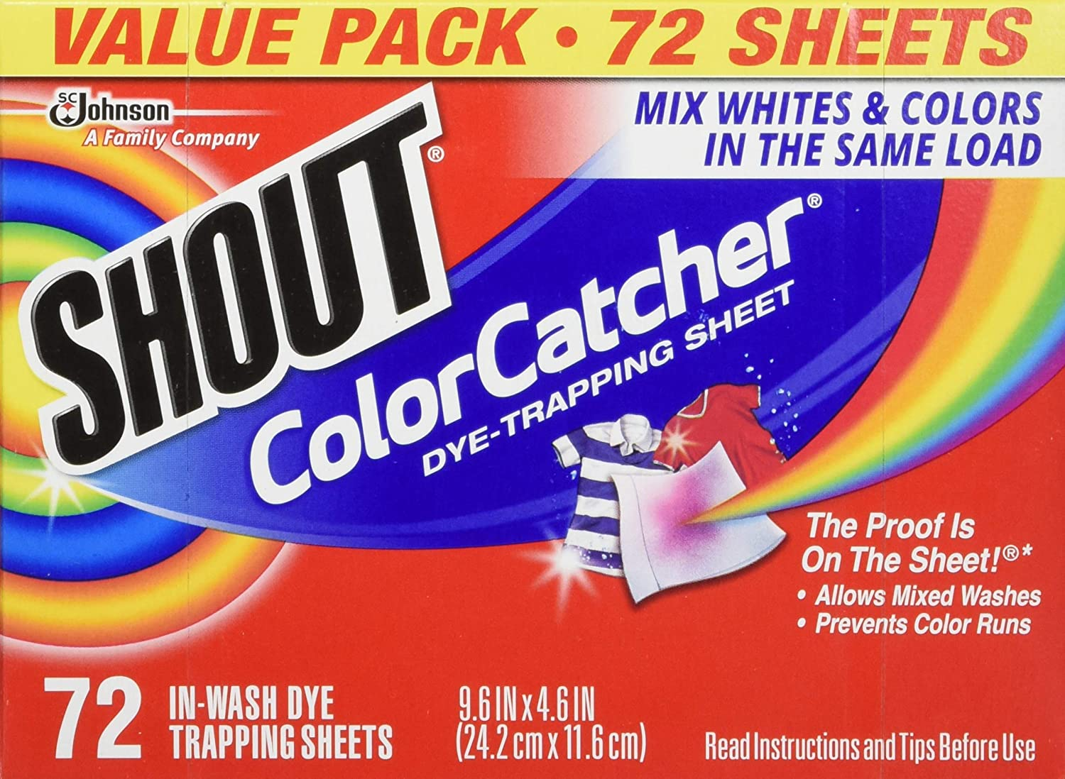 Shout Color Catcher Dye Trapping Sheets 4-Pack