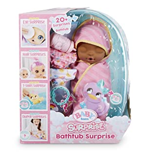 Baby Born Surprise Bathtub Surprise Pink Swaddle Daisies
