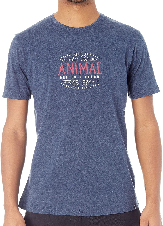 Animal Barrel T-Shirt Mens T-Shirts Dark Navy Marl