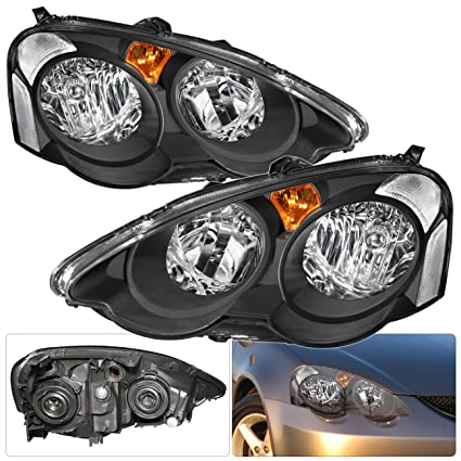 Amazoncom For Acura Rsx Dc Black Housing Clear Reflector Amber - Acura rsx headlights