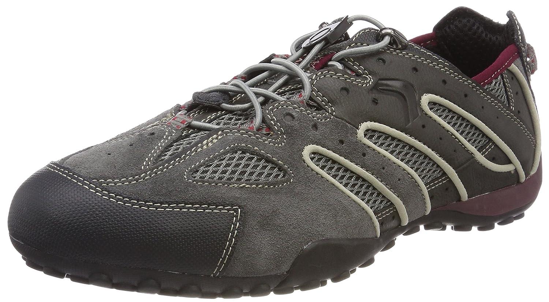 Grey (Dk Grey Ruby) Geox Men's men Snake J Low-Top Sneakers