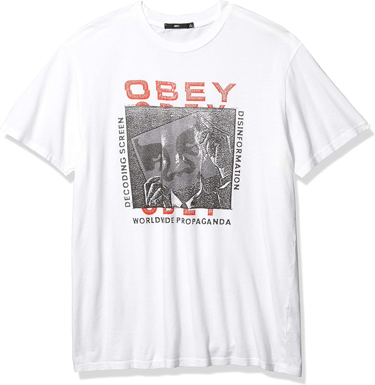Obey Mens Superior Ss Decoding Screens Tee