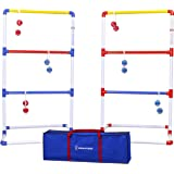 GoSports Premium Ladder Toss Outdoor Game Set with 6 Bolo Balls, Travel Carrying Case and Score Trackers - Choose…