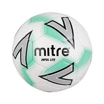 Mitre Impel Lite Balón de fútbol, Unisex Adulto, White/Green, 5 ...