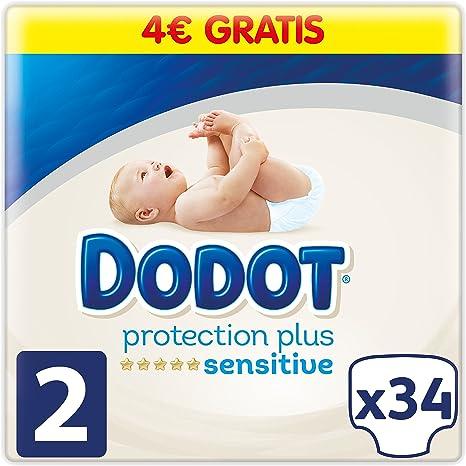 Dodot Pañales Protection Plus Sensitive, Talla 2, para Bebes de 4 a 8 kg - 34 Pañales: Amazon.es: Bebé