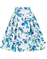 Paul Jones®Dress Grace Karin Women Vintage Pleated A Line Flare Skirt with Pockets CL8925