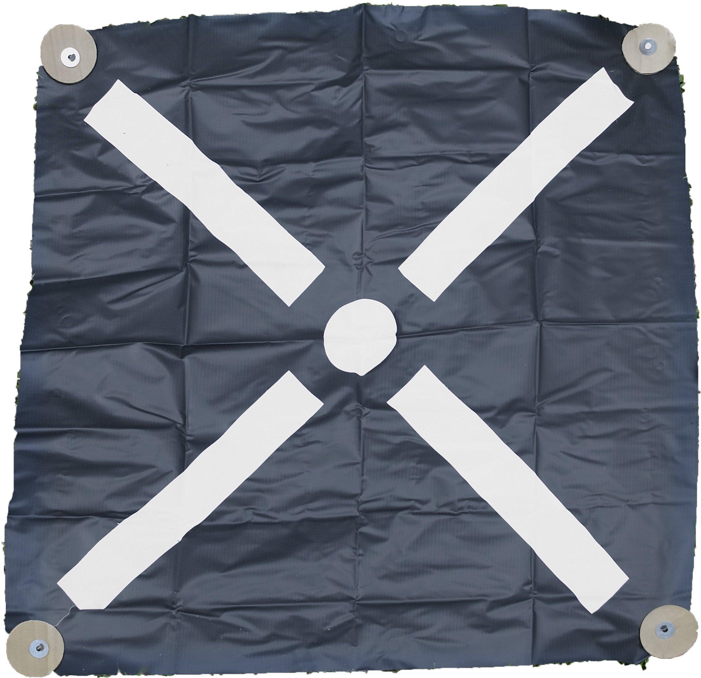 Mutual Industries 15500-0-36 Pre-Made Aerial Target, Bullseye, 36'' (Pack of 6)