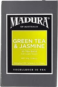 Madura Green and Jasmine 20 Enveloped Tea Bags, 1 x 30 g