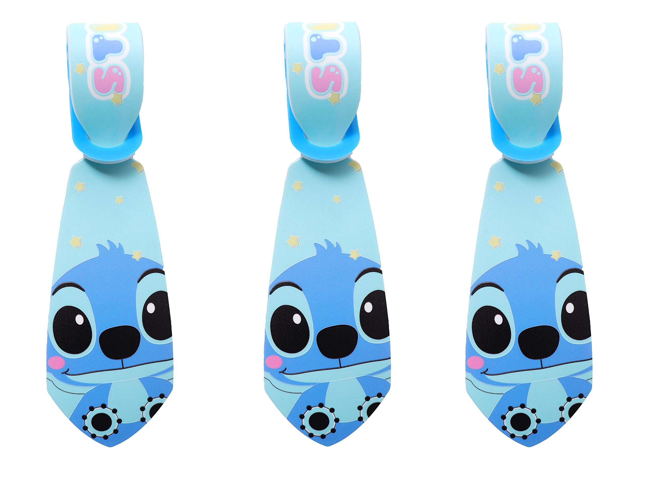 Super Cute Kawaii Cartoon Silicone Travel Luggage ID Tag Tie for Bags (3 Stitch Luggage Tie) by AG Toys