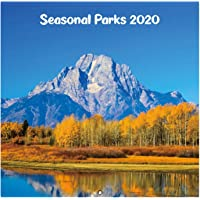 """2020 Wall Calendar - 2020 Monthly Square Wall Calendar with Thick Paper, January 2020 - December 2020, 12"""" x 24"""" (Open), Unruled Blocks - Seasonal Parks"""