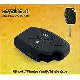 Keyzone Silicone Key Cover Black For Mahindra Xylo Scorpio 3 Button Remote Key (Black)