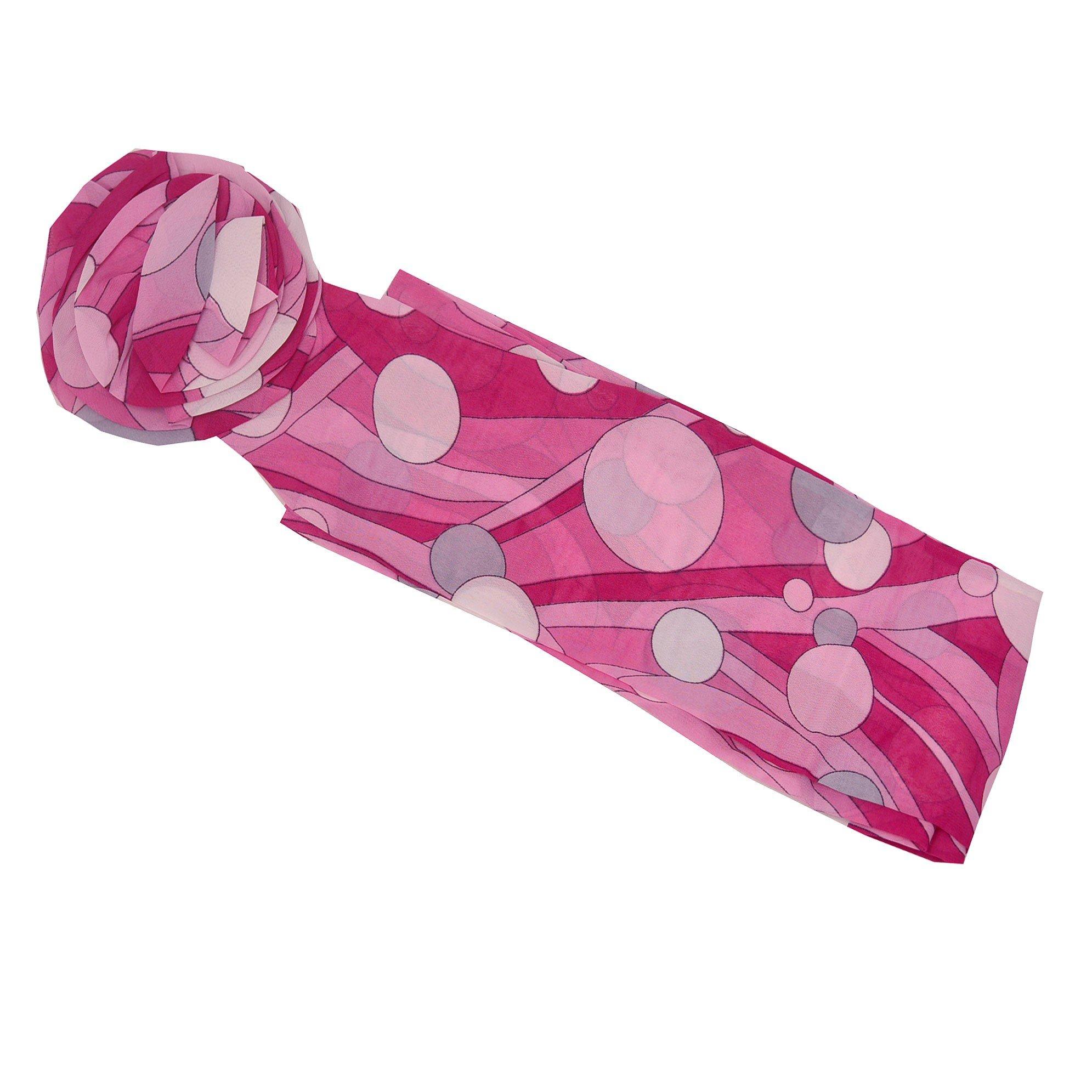 Girls Fuchsia Pink Polka Dot Pattern Rosette Accent Sash Belt 3.5 x 50 Length