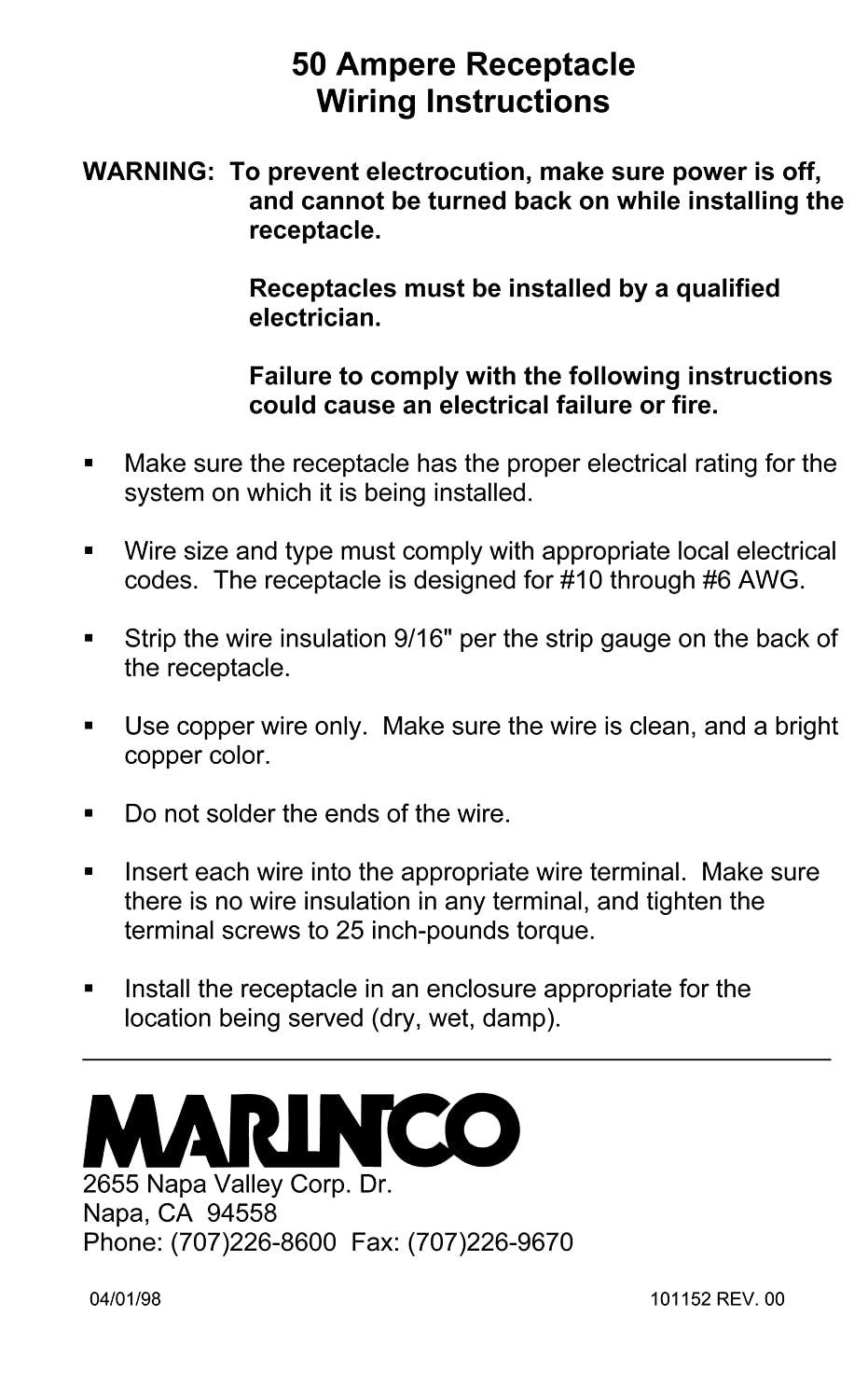 Marinco 6369cr Marine 3 Pole 4 Wire Electrical Dockside Wiring Diagram Switch Panel Receptacle 50 Amp 125 250 Volt Female Black Boating Shore Power Cords Sports