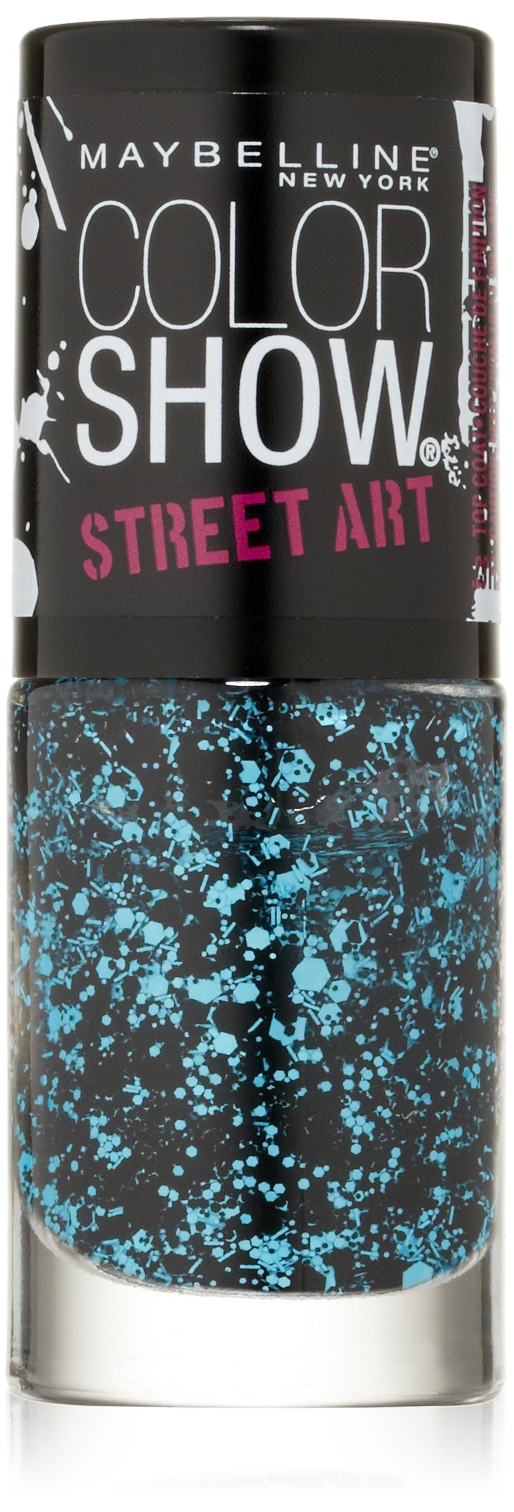 Maybelline New York Color Show Street Art Top Coat No. 42 Blue Beats, 0.23 Fluid Ounce