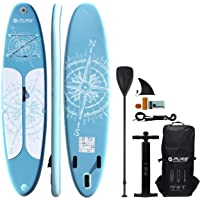 HIKS Products PURE Blue 11'2 3.4m SUP Inflatable Stand Up Paddle Board Set Inc Paddle, Pump, Backpack & Leash Suitable all Abilities Ideal Family Inflatable Paddleboard Kit