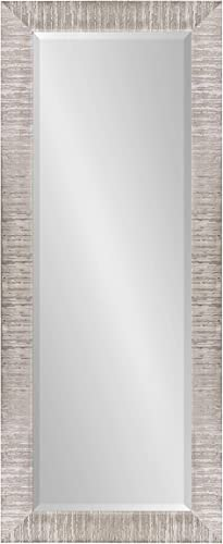 Kate and Laurel Reyna Full-Length Framed Panel Wall Mirror, 21.75×53.75 Silver