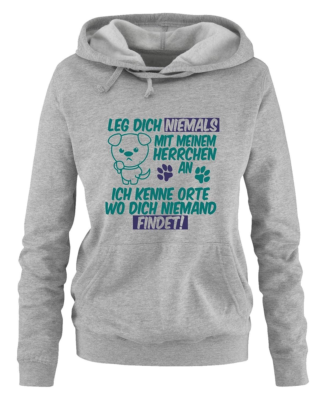 Niemals Mit An Comedy Dich Meinem Langarm Leg Shirts Damen Herrchen kPiOXZTwul