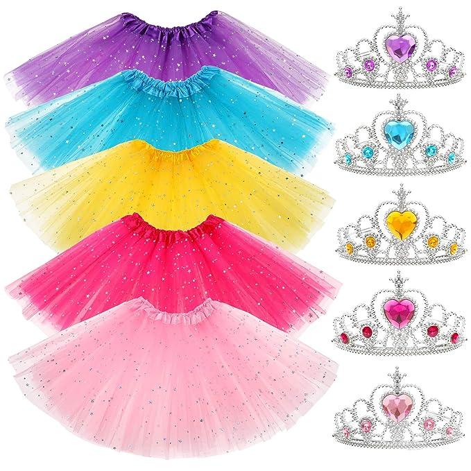 10 Piezas Tutu Niña Corona Princesa Niña Vestir Accesorios ...