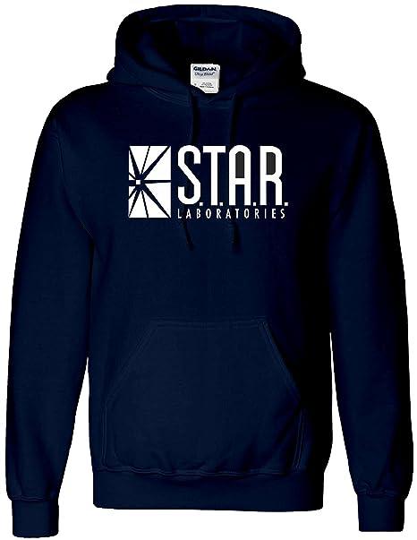 Sudadera con capucha inspirada en STAR Laboratories - Sudadera con capucha de S.T.A.R. Labs de la serie de TV The Flash: Amazon.es: Ropa y accesorios