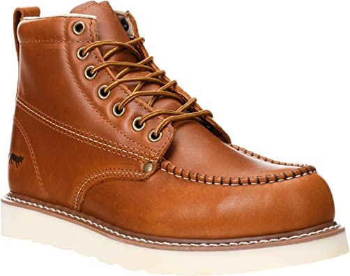 Golden Fox Work Boots 6-inch Men's Moc Toe Wedge
