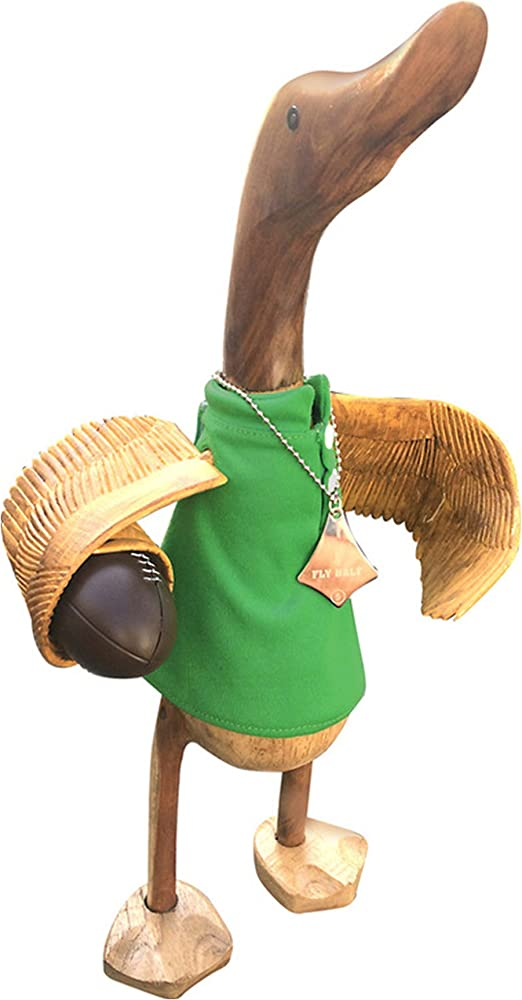 Regalo de pato de madera: Fly mitad Irlanda Rugby pato: Amazon.es ...