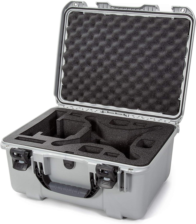Nanuk 933 DJI Drone Waterproof Hard Case with Custom Foam Insert for The Phantom 4 Pro / 4 Pro+ / 4 Pro+ 2.0 & 4 RTK - Silver