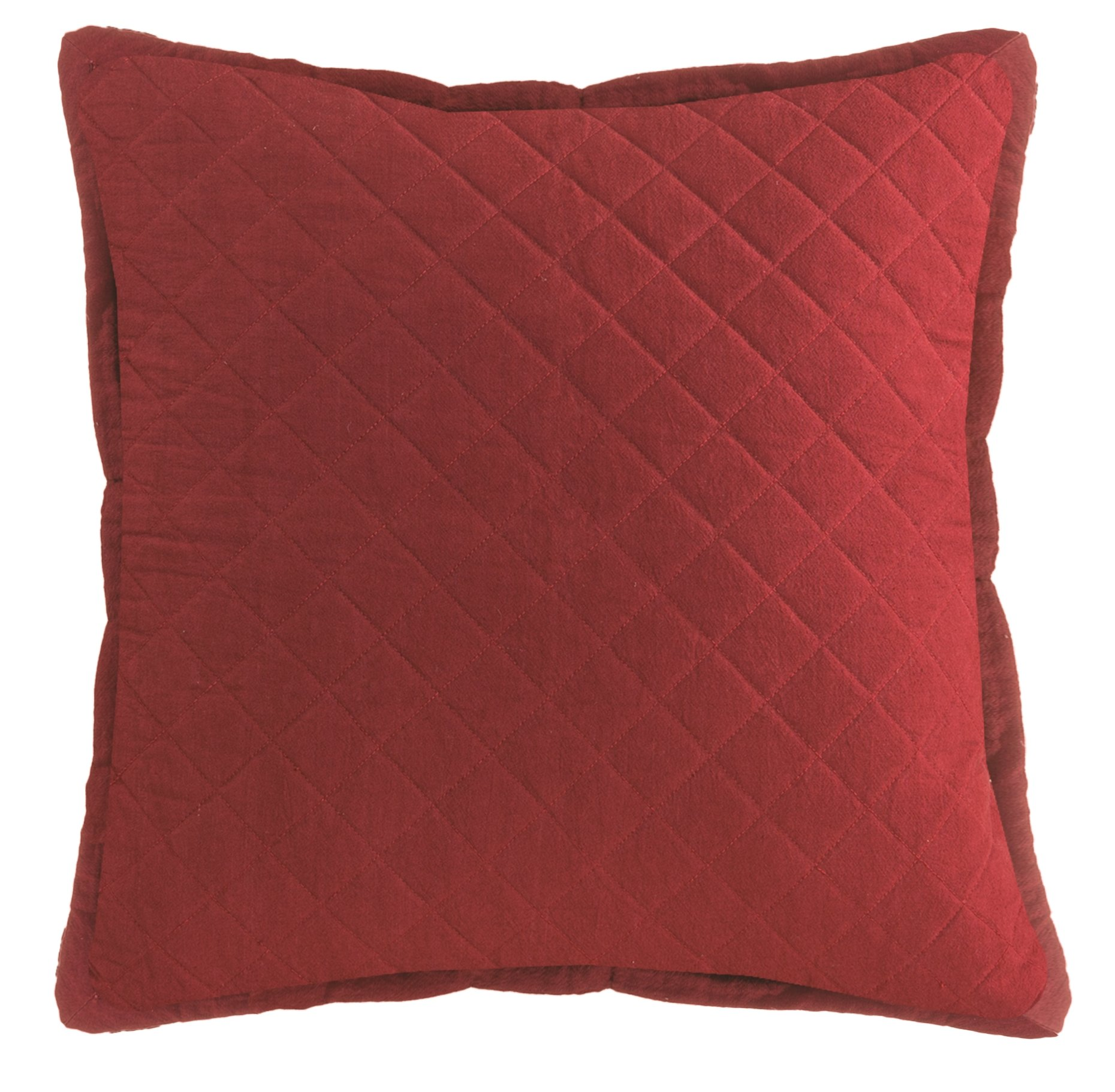 "Heritage Lace Red Farmhouse 22""x22"" Quilted Pillow, 22"" x 22"" - Measures 22x 22 100 Percent cotton Pillow cover: machine wash cold, gentle. Do not bleach. Lay flat or hang to dry. Touch up with cool iron if desired. Pillow insert: spot clean only - living-room-soft-furnishings, living-room, decorative-pillows - 81mnyNS3ldL -"