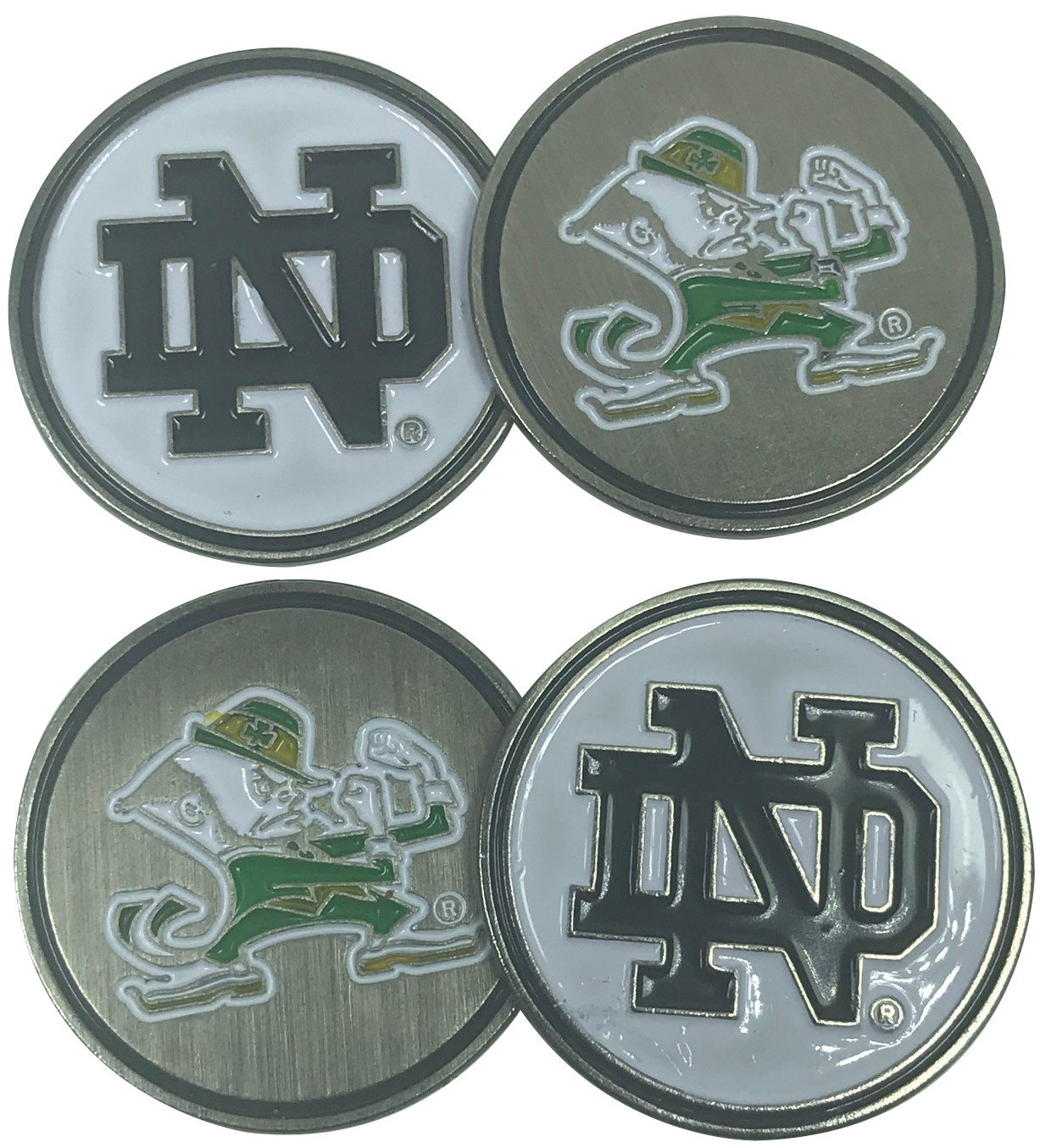 Alumniゴルフ(チームゴルフ) University of Notre Dame Fighting Irish 4つ(4 ) ゴルフボールマーカー – 2 Sided   B07FRPXCMG