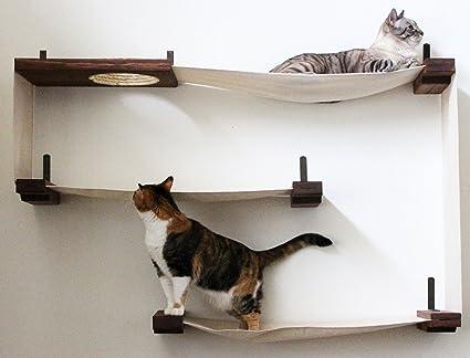 catastrophicreations fabric cat maze multiple level hammock lounger wall mounted cat tree amazon     catastrophicreations fabric cat maze multiple level      rh   amazon