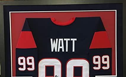 JJ Watt Houston Texans Autograph Signed Custom Framed Jersey Blue Suede Mat  JSA Witnessed Certified at Amazon s Sports Collectibles Store 991b8a561